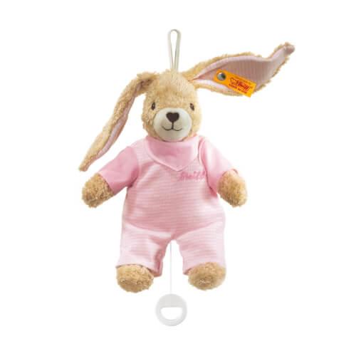Steiff Hoppel Hase Spieluhr, rosa, 20 cm