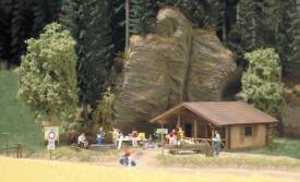 H0 Blockhütte