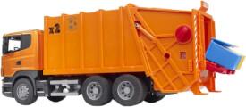 Bruder 03560 Scania R-Serie Müll-LKW (orange), ab 4 Jahren, Maße:  62 x 18,5 x 26,5 cm