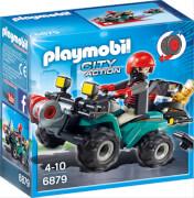 PLAYMOBIL 6879 Ganoven-Quad mit Seilwinde, ca. 14x7x14, ab 4 Jahren