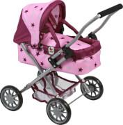 Bayer Chic 2000 - 555 78 Mini-Puppenwagen Smarty, Kuschelwagen, Stars Brombeere