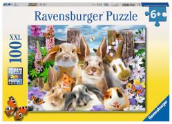 Ravensburger 10949 Puzzle Hasen-Selfie 100 Teile XXL