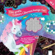 Cresci, Anne: Zeit für Kreativität  Das große Einhorn-Überraschungs-Set  Mit 300 3D-Stickern, 2 Glanzfolien, Glitzersa