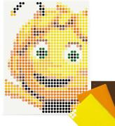 dot on art - DIY-Klebeposter, Bastelset, Stickerset - Motiv:  Biene Maja, 30x40 cm