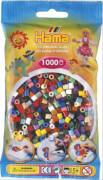 HAMA 207-67 Bügelperlen Midi - Vollton Mix 1000 Perlen, 22 Farben, ab 5 Jahren