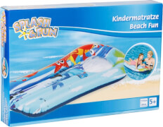Splash & Fun Kindermatratze Beach Fun mit Sichtfenster 110 x 60 cm